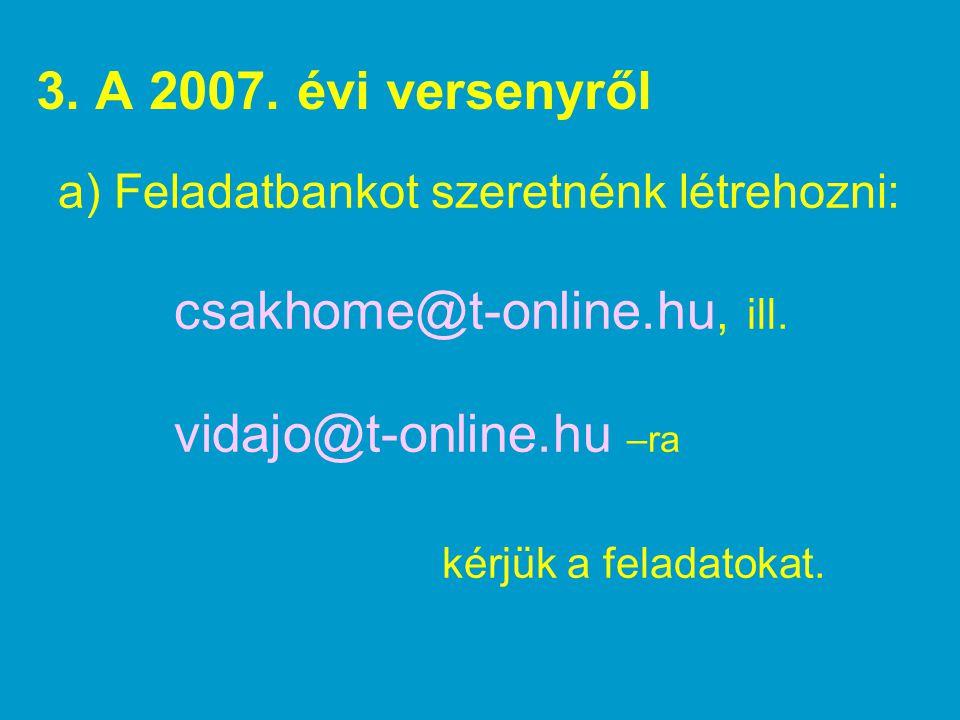 csakhome@t-online.hu, ill. vidajo@t-online.hu –ra