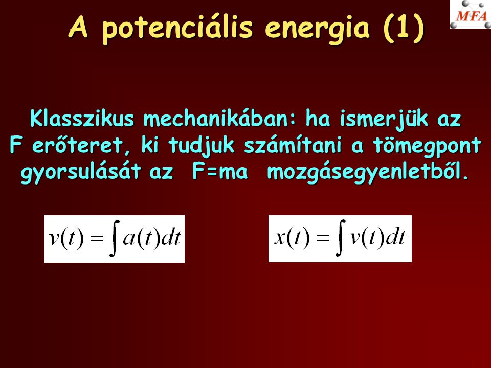 A potenciális energia (1)