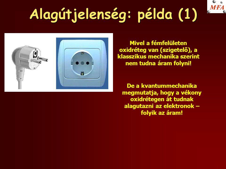 Alagútjelenség: példa (1)