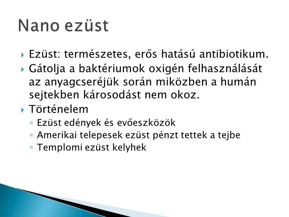 Nano ezüst Ezüst: természetes, erős hatású antibiotikum.