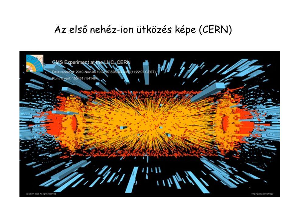 Az első nehéz-ion ütközés képe (CERN)