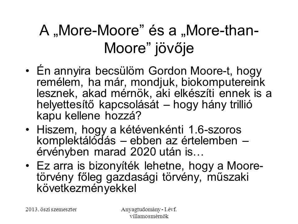 """A """"More-Moore és a """"More-than- Moore jövője"""