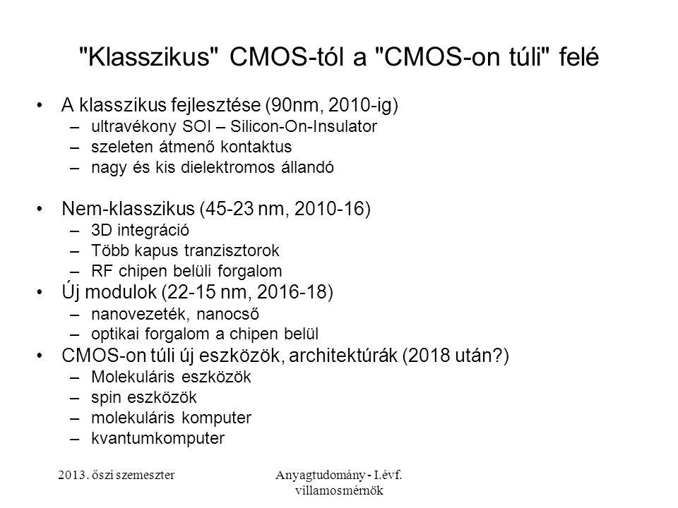 Klasszikus CMOS-tól a CMOS-on túli felé