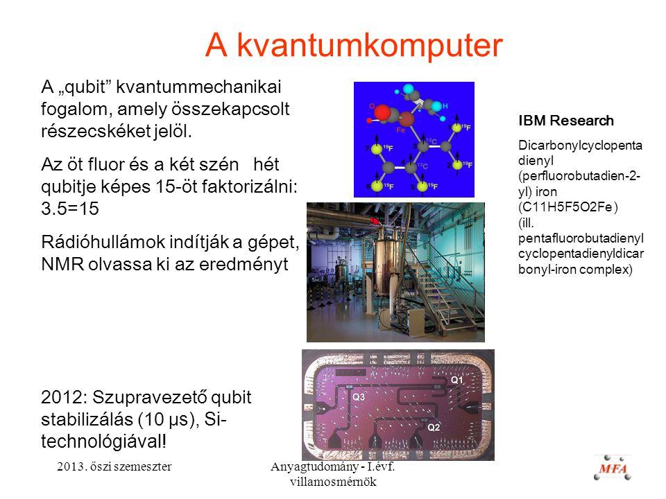 Anyagtudomány - I.évf. villamosmérnök