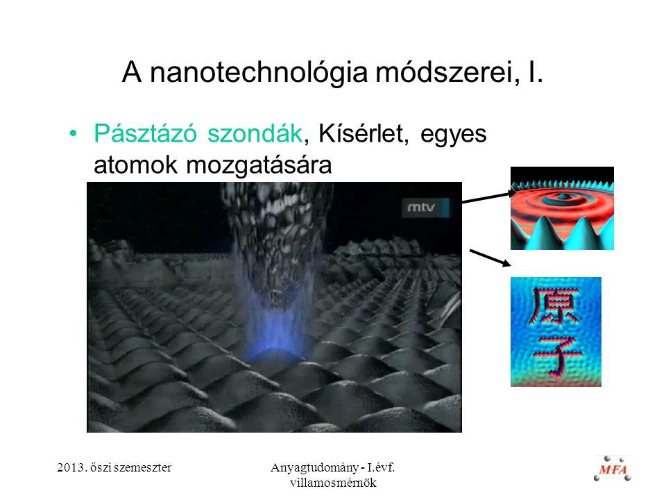 A nanotechnológia módszerei, I.