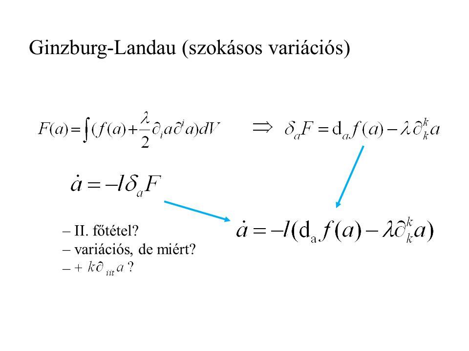 Ginzburg-Landau (szokásos variációs)