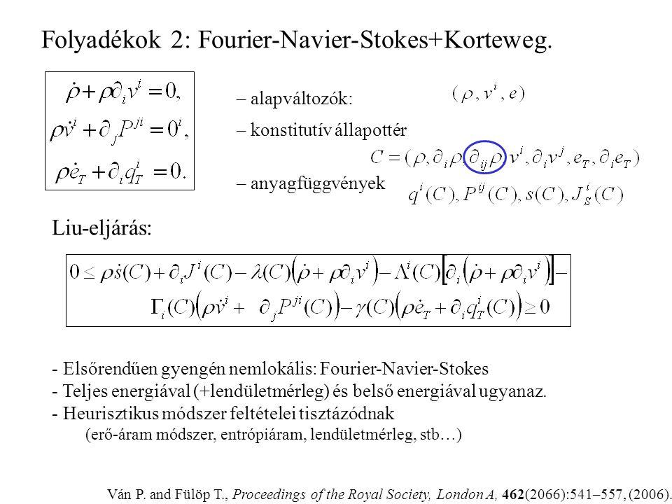 Folyadékok 2: Fourier-Navier-Stokes+Korteweg.