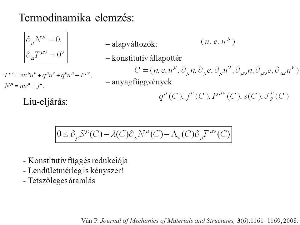 Termodinamika elemzés: