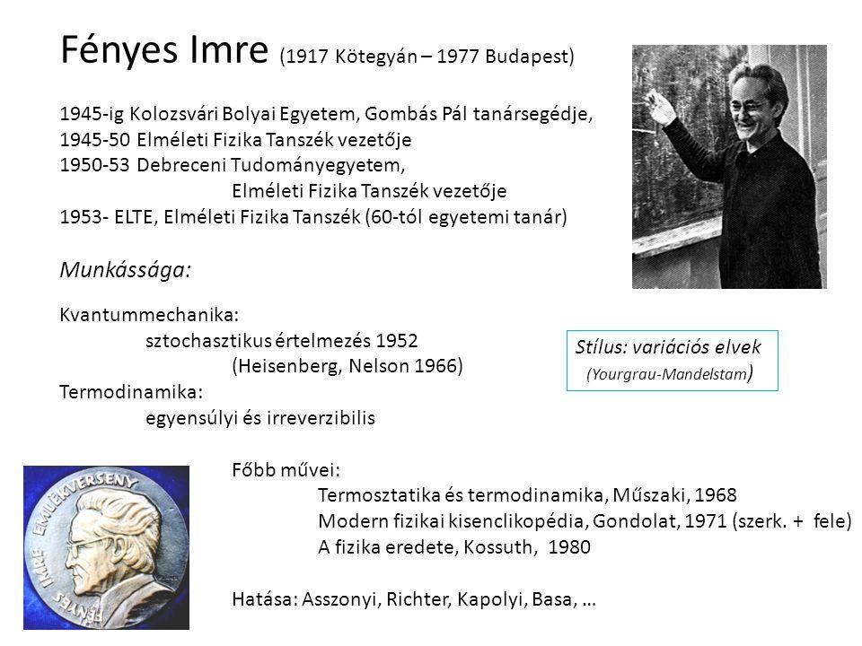 Fényes Imre (1917 Kötegyán – 1977 Budapest)