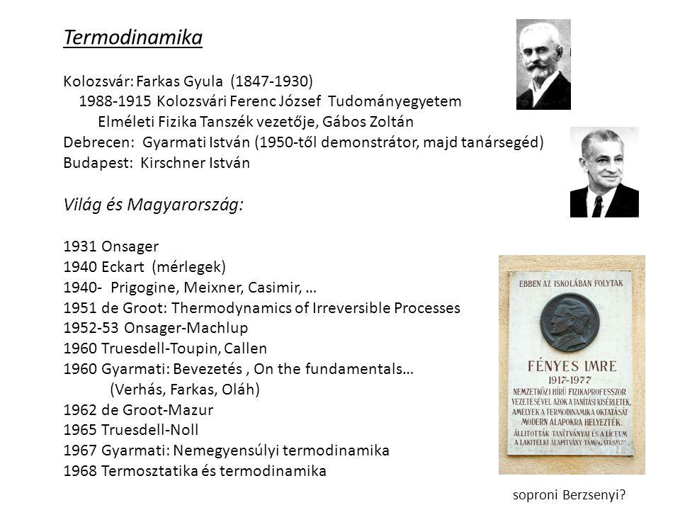 Termodinamika Világ és Magyarország: