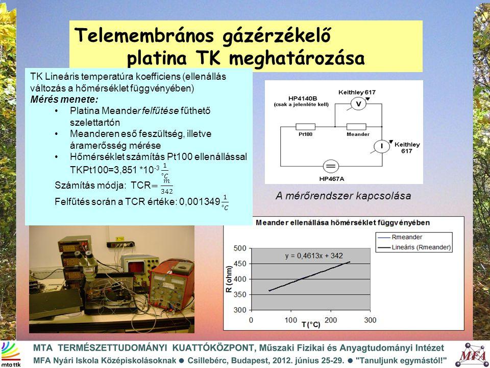 platina TK meghatározása
