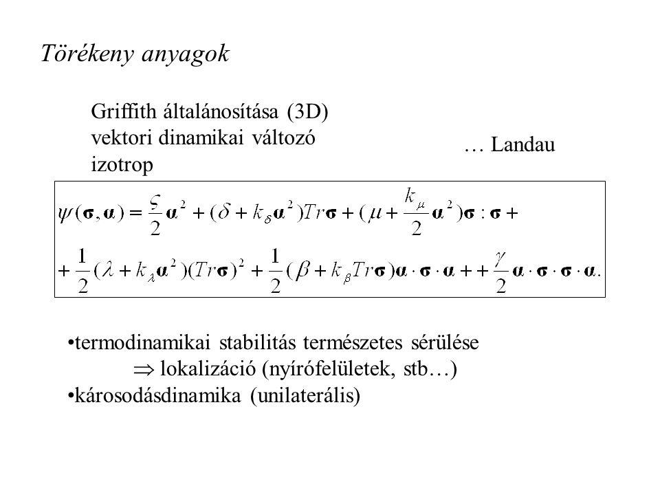 Törékeny anyagok Griffith általánosítása (3D)