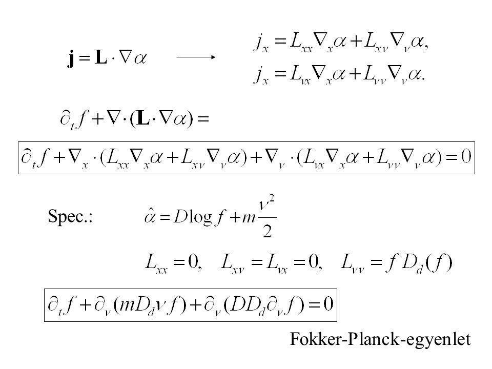 Spec.: Fokker-Planck-egyenlet