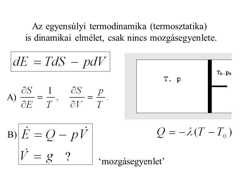 Az egyensúlyi termodinamika (termosztatika)