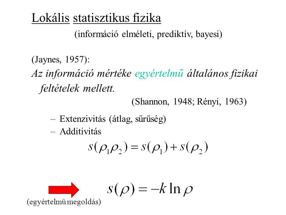 Lokális statisztikus fizika