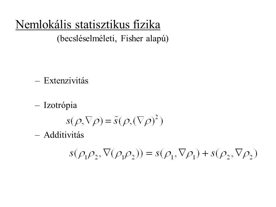 Nemlokális statisztikus fizika
