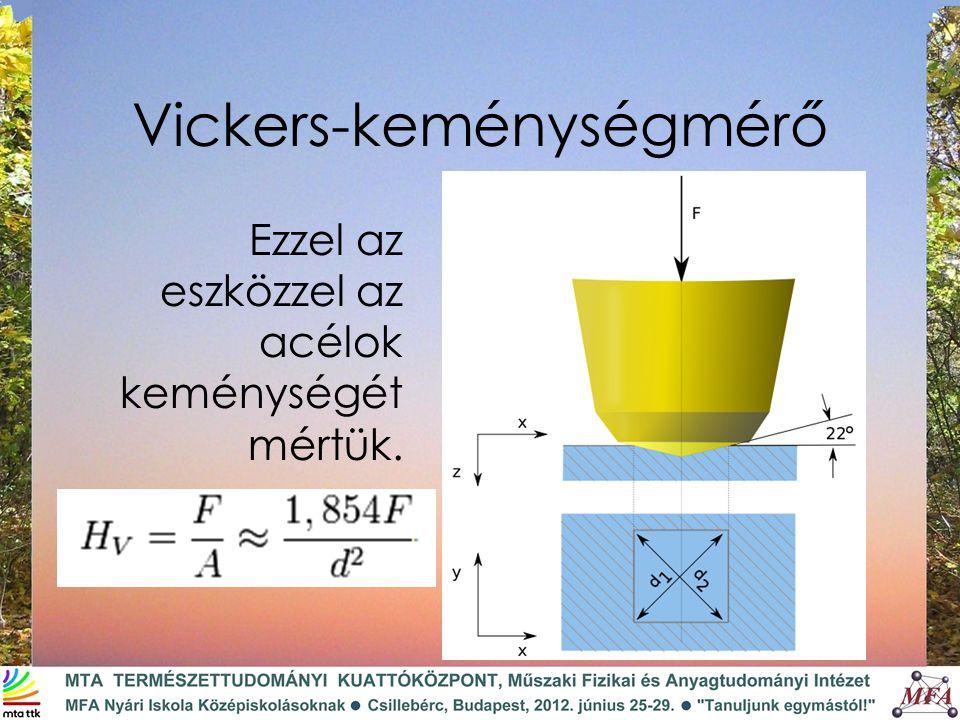Vickers-keménységmérő