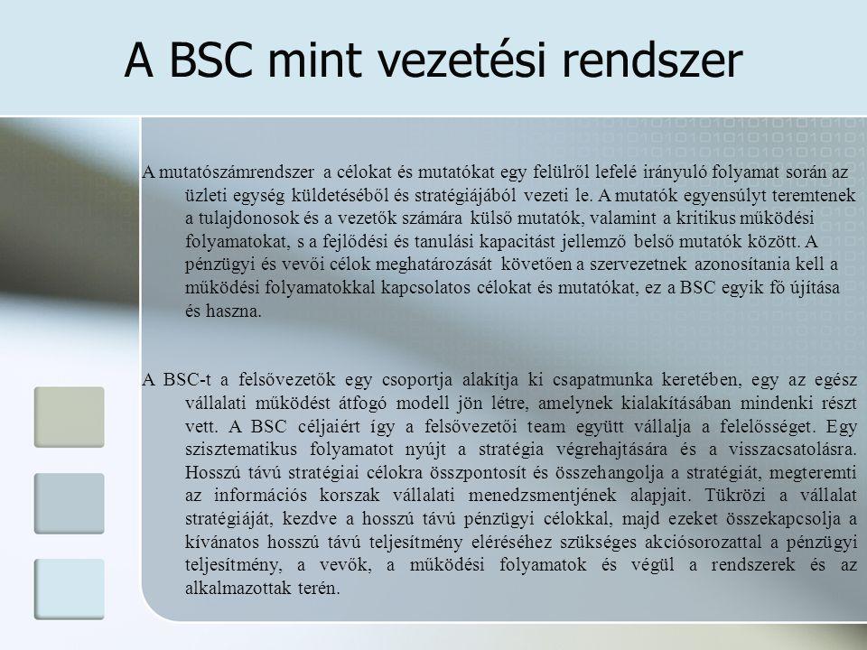 A BSC mint vezetési rendszer