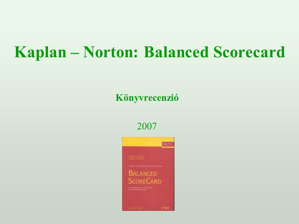 Kaplan – Norton: Balanced Scorecard