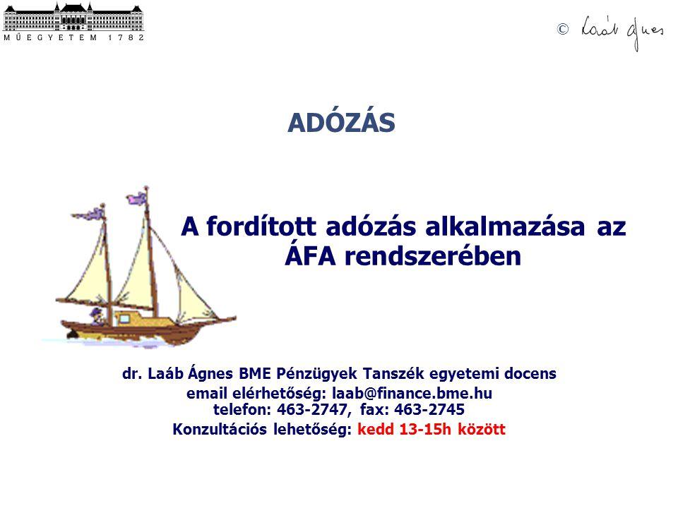 A fordított adózás alkalmazása az ÁFA rendszerében