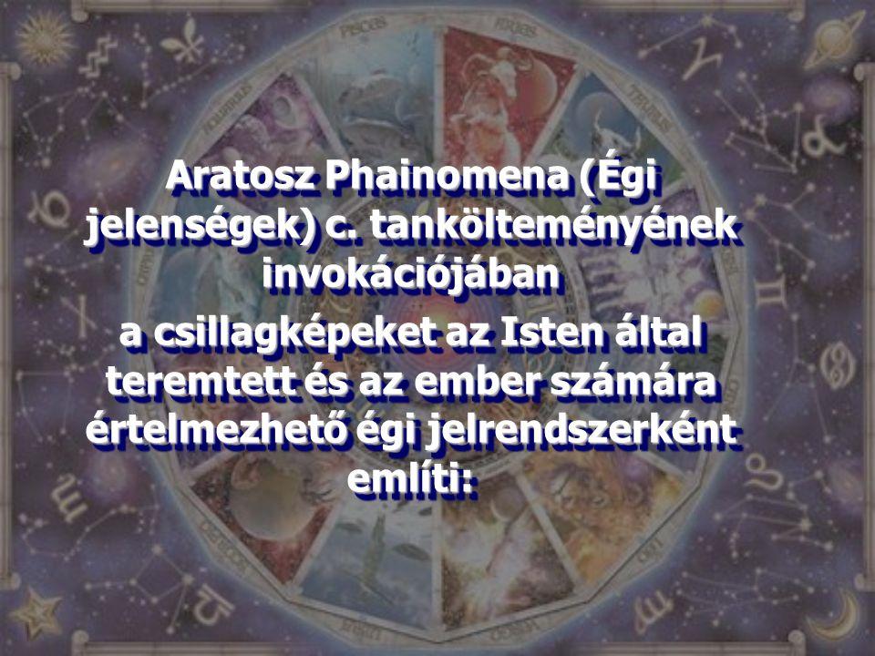 Aratosz Phainomena (Égi jelenségek) c. tankölteményének invokációjában
