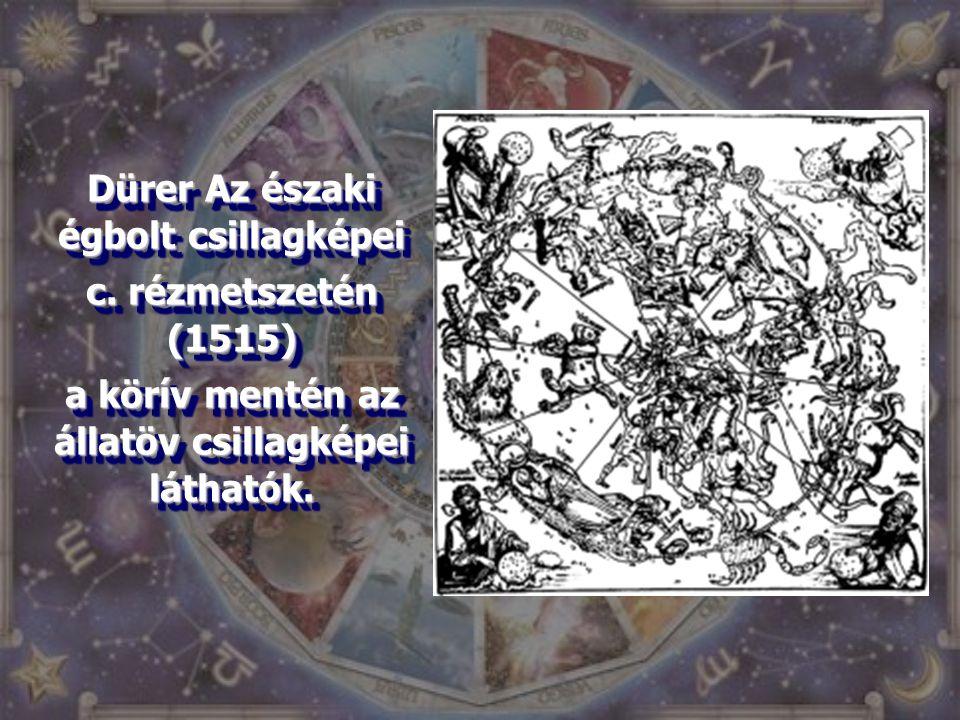 Dürer Az északi égbolt csillagképei c. rézmetszetén (1515)