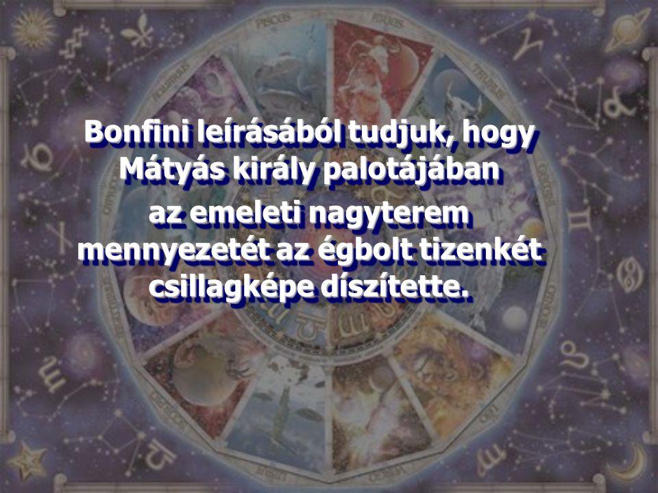 Bonfini leírásából tudjuk, hogy Mátyás király palotájában