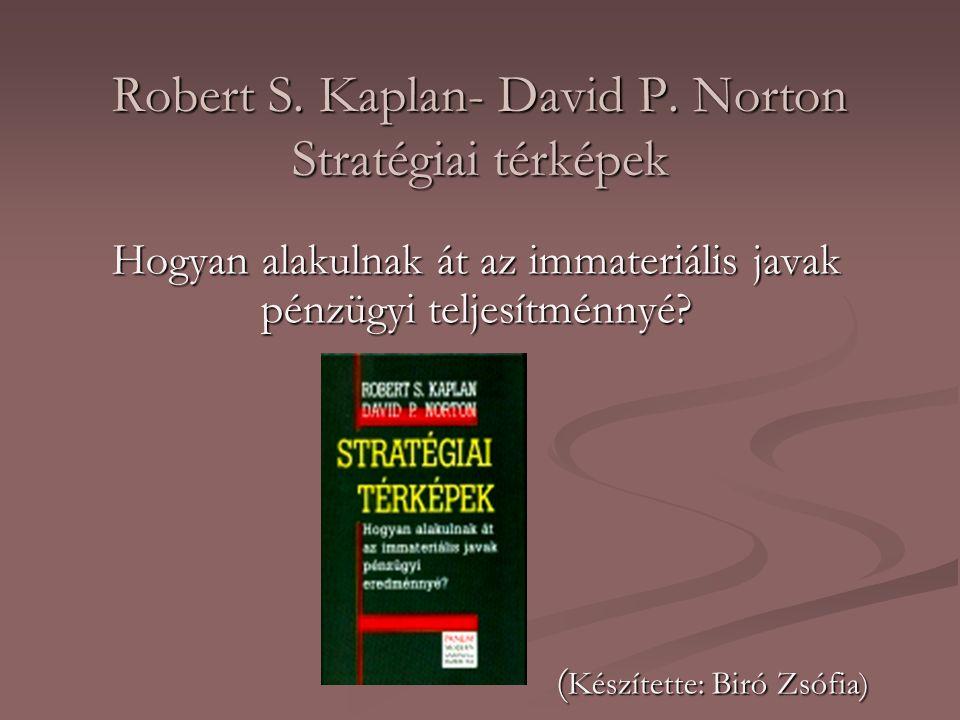 Robert S. Kaplan- David P. Norton Stratégiai térképek