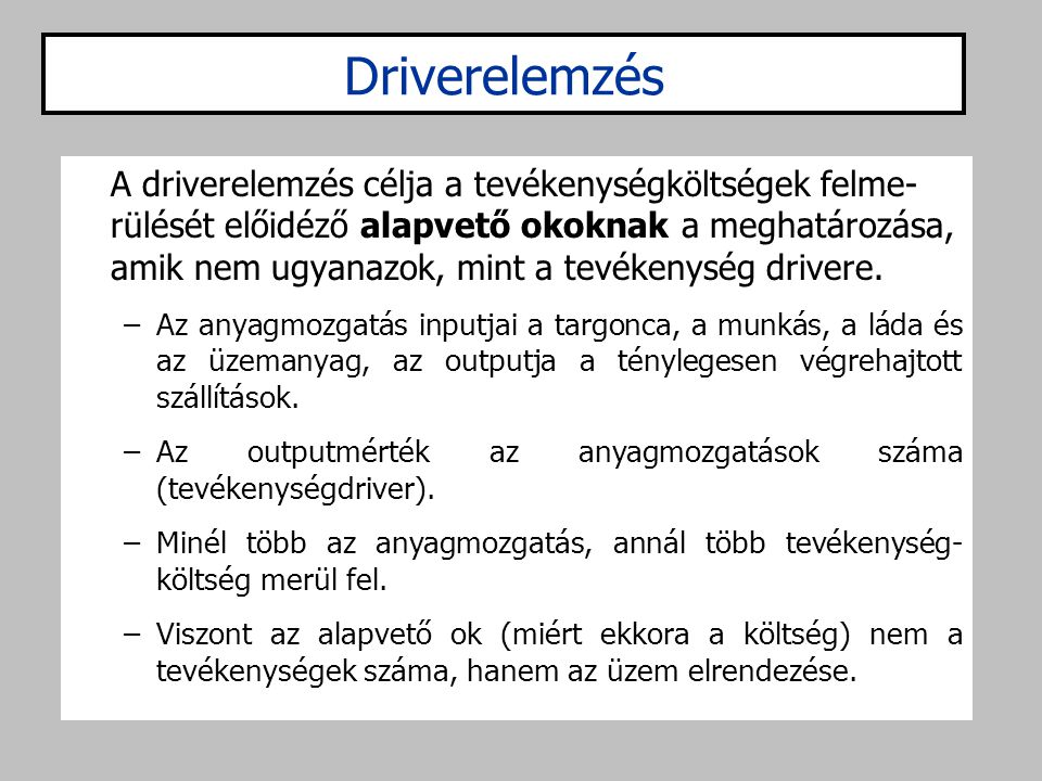 Driverelemzés