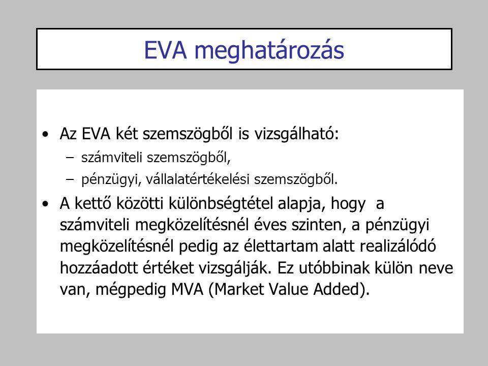 EVA meghatározás Az EVA két szemszögből is vizsgálható: