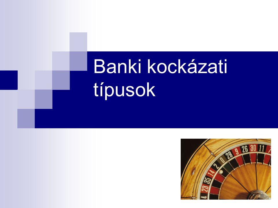 Banki kockázati típusok