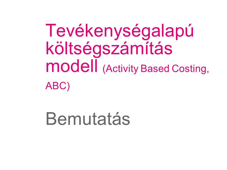 Tevékenységalapú költségszámítás modell (Activity Based Costing, ABC) Bemutatás