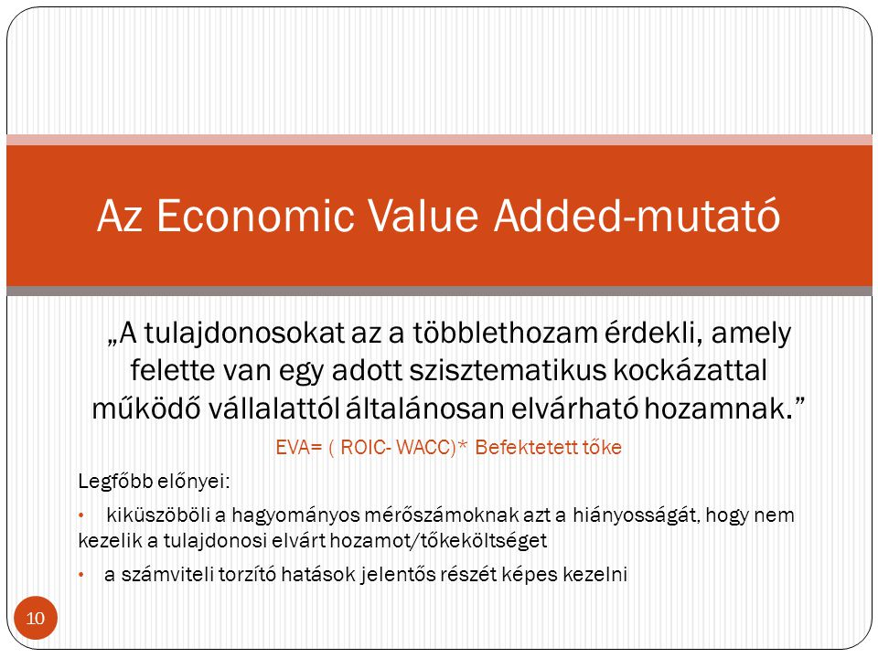 Az Economic Value Added-mutató