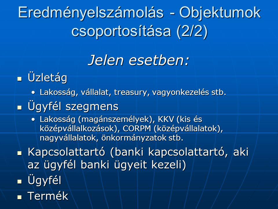 Eredményelszámolás - Objektumok csoportosítása (2/2)