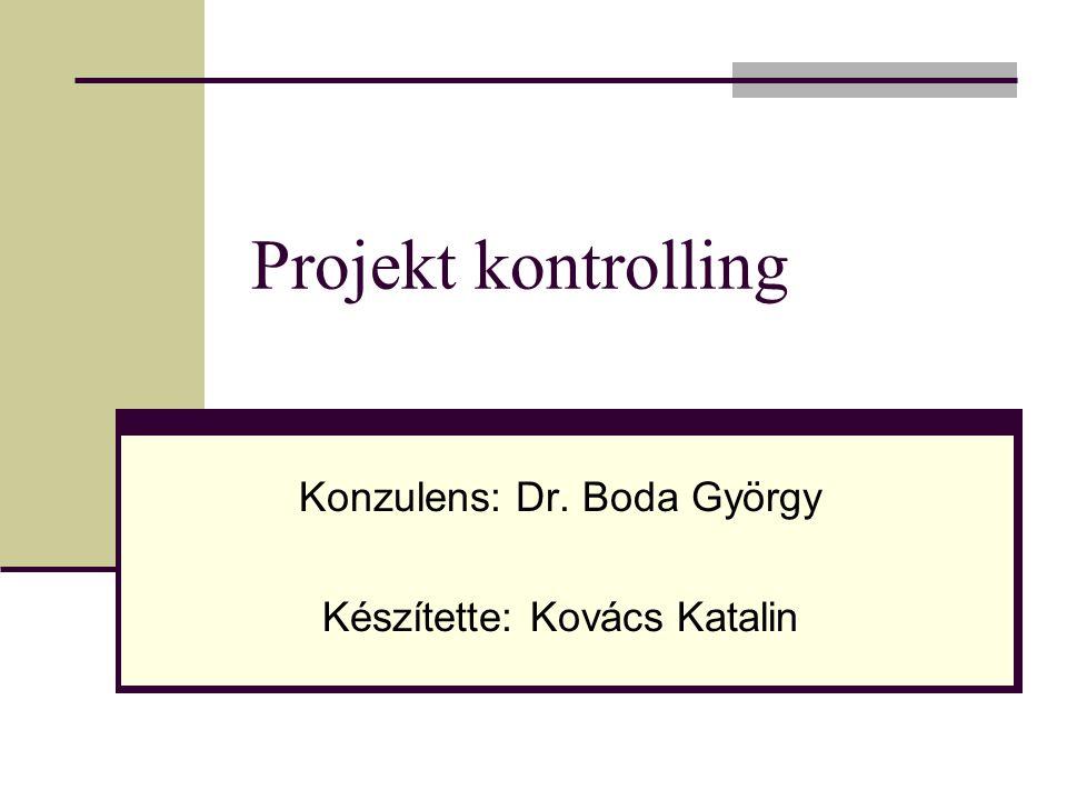 Konzulens: Dr. Boda György Készítette: Kovács Katalin