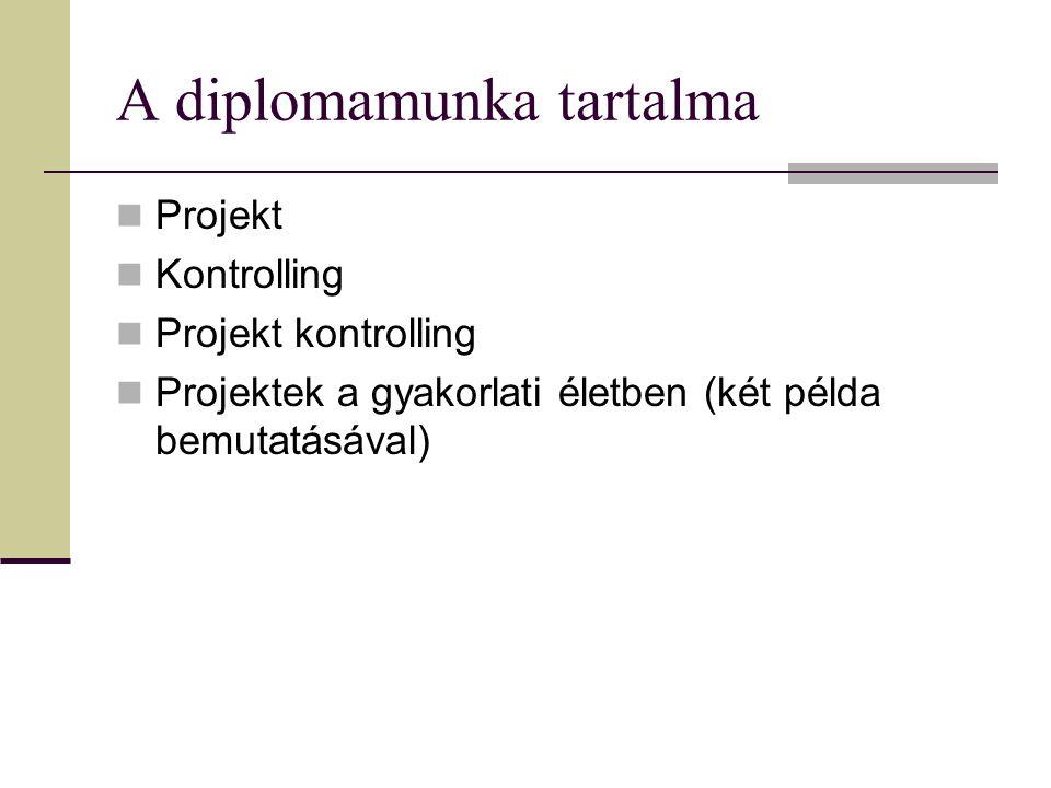 A diplomamunka tartalma