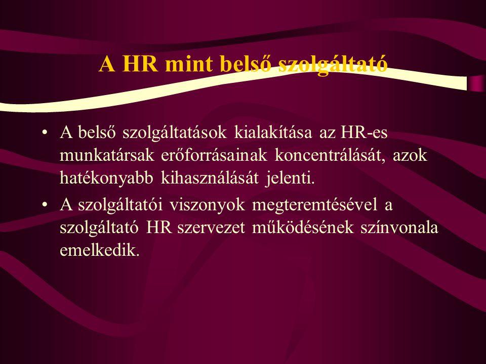 A HR mint belső szolgáltató