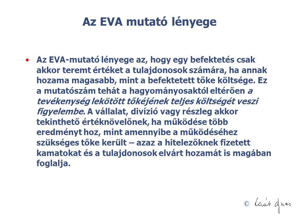 Az EVA mutató lényege