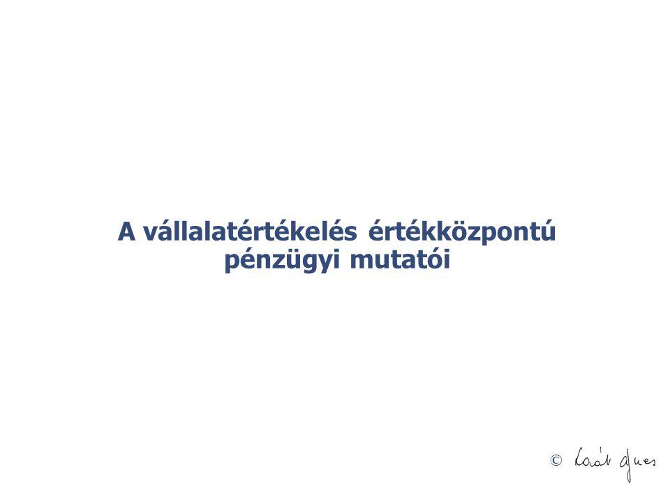 A vállalatértékelés értékközpontú pénzügyi mutatói