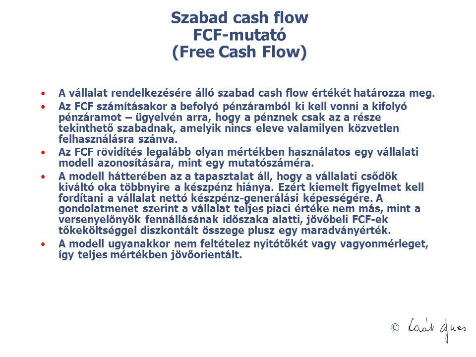 Szabad cash flow FCF-mutató (Free Cash Flow)