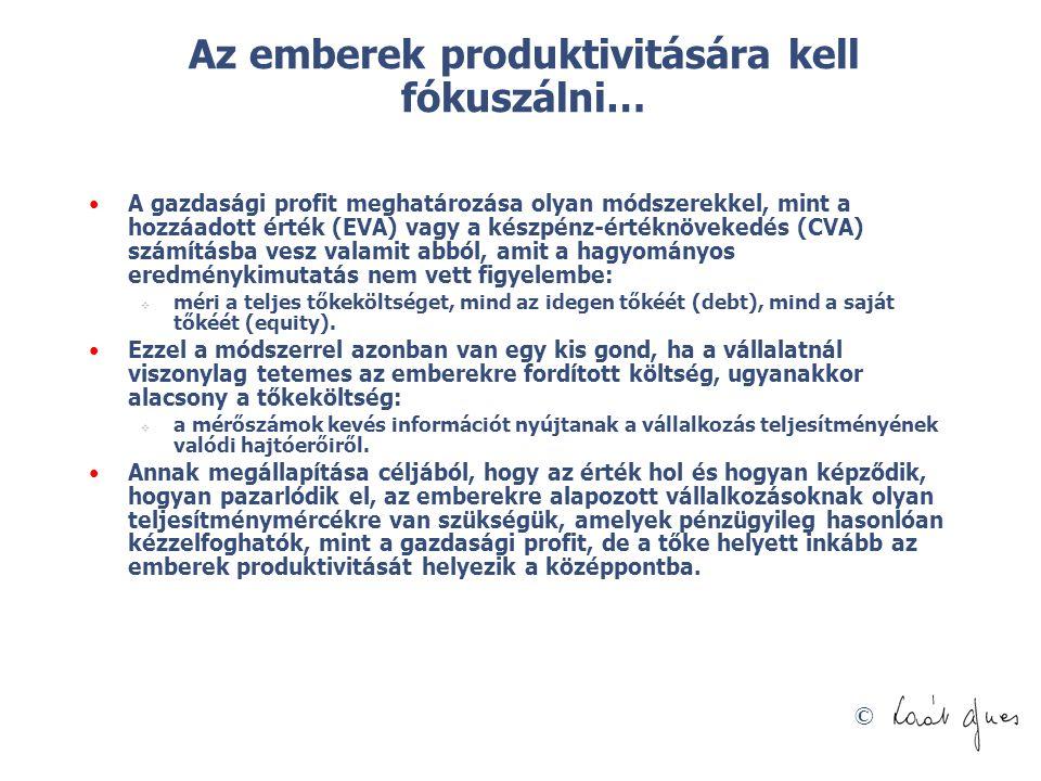 Az emberek produktivitására kell fókuszálni…