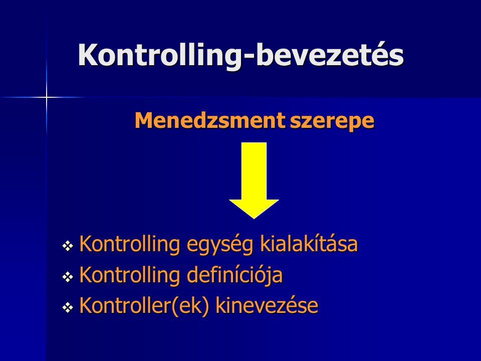 Kontrolling-bevezetés
