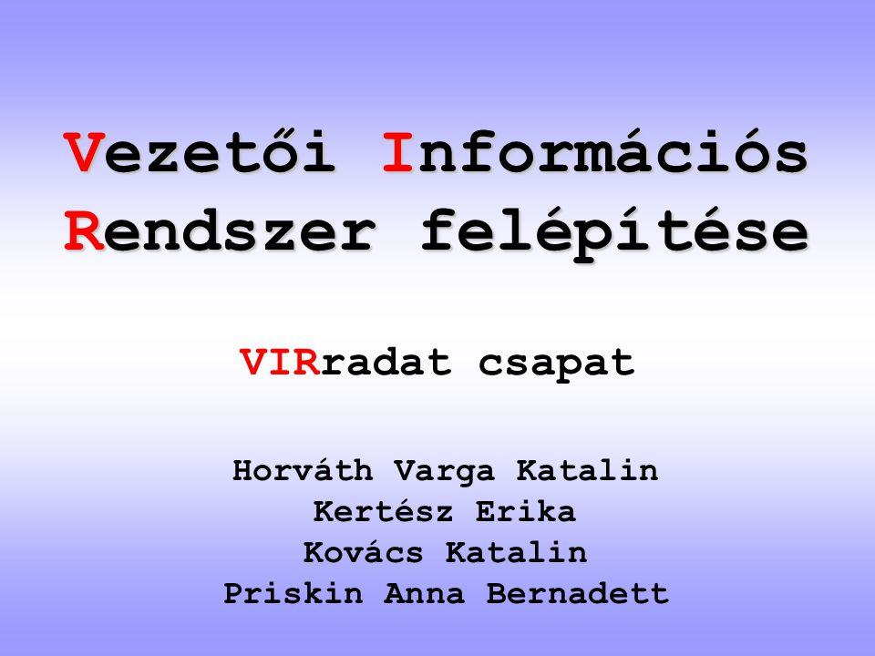Vezetői Információs Rendszer felépítése