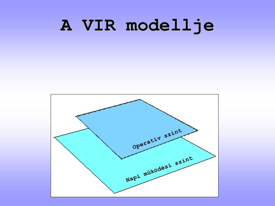 A VIR modellje Operatív szint Napi működési szint