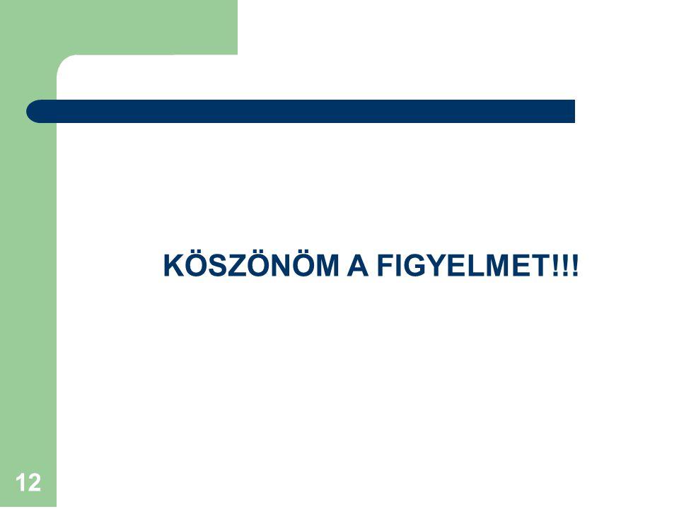 KÖSZÖNÖM A FIGYELMET!!!