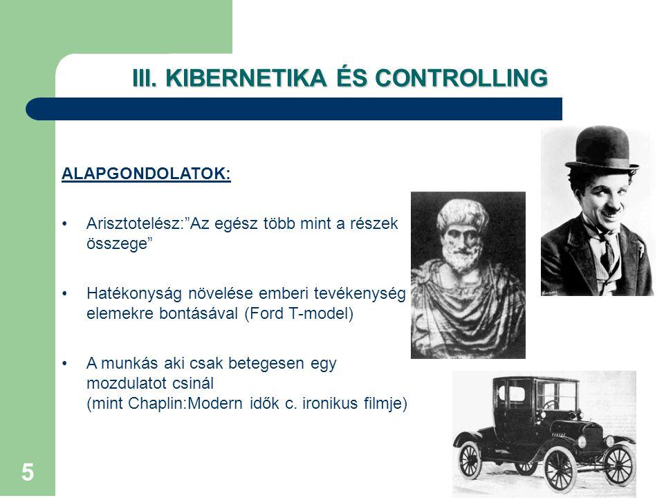 III. KIBERNETIKA ÉS CONTROLLING