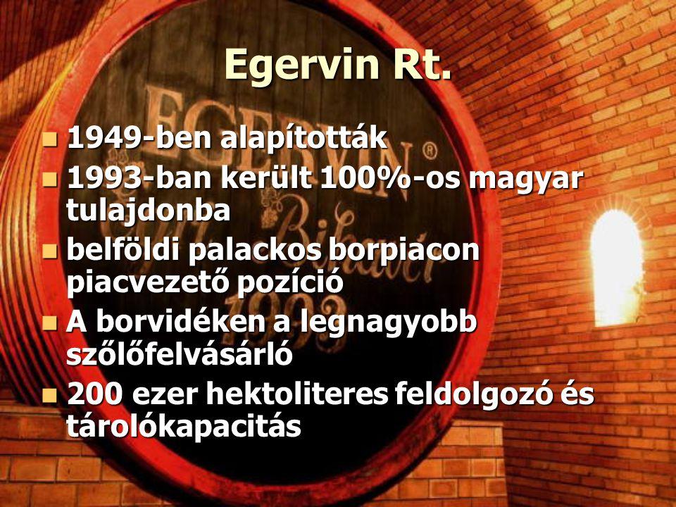 Egervin Rt. 1949-ben alapították