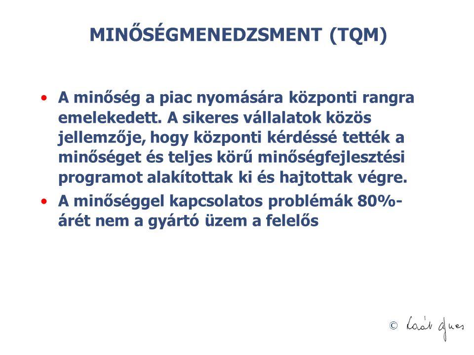 MINŐSÉGMENEDZSMENT (TQM)