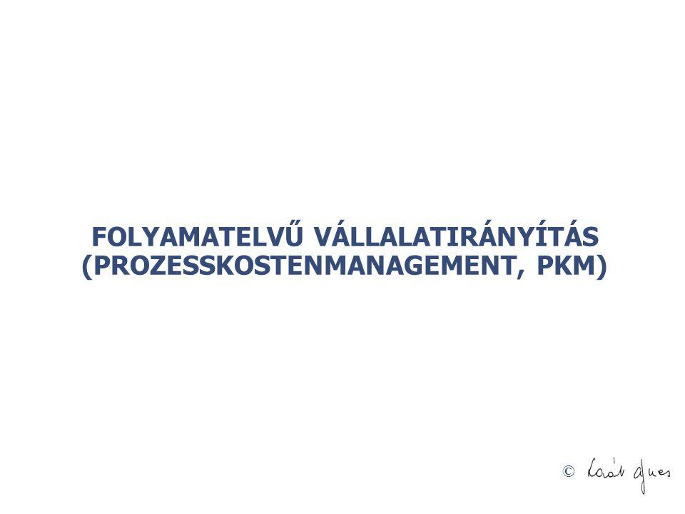 FOLYAMATELVŰ VÁLLALATIRÁNYÍTÁS (PROZESSKOSTENMANAGEMENT, PKM)