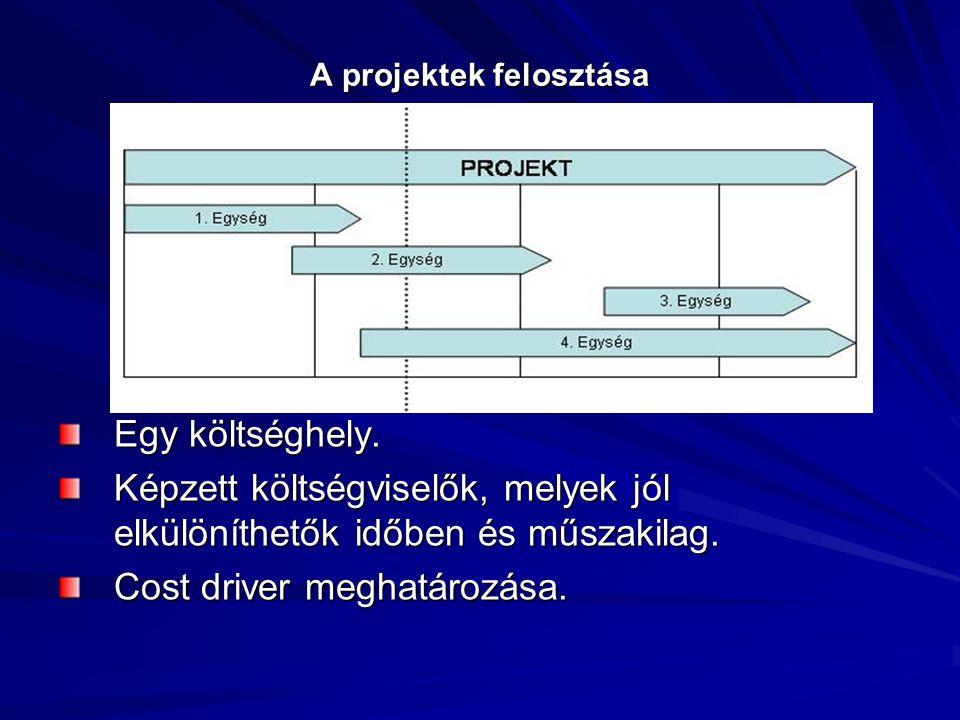 A projektek felosztása